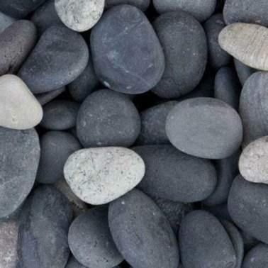 Beach pebbles antraciet 40-60mm 25 kg