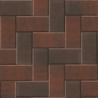 Betonklinker 21x10,5x6cm rood zwart