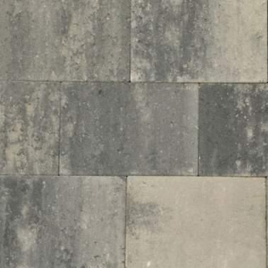 Terrassteen+ 20x30x4cm grezzo grijs zwart