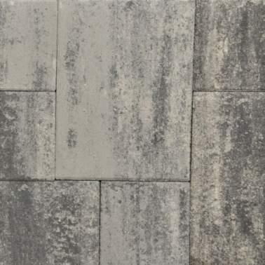 Terrasverband+ 4cm grezzo grijs zwart