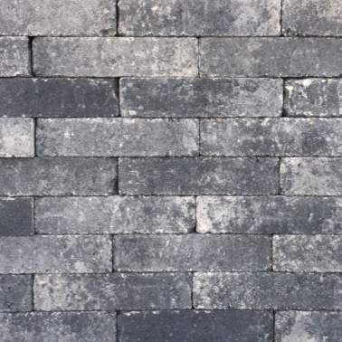 Waalformaat 20x5x7cm grijs zwart getrommeld