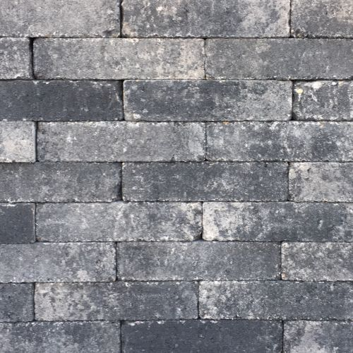 8a1bd91e1d4d09 Waalformaat 20x5x7cm grijs zwart getrommeld