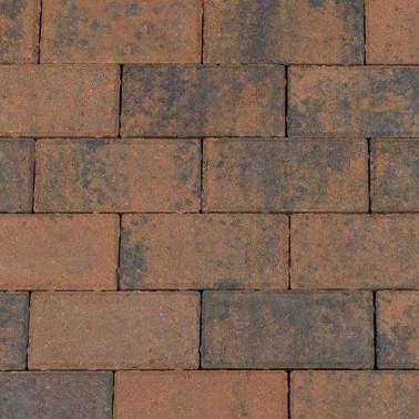Betonklinkers 21x10,5x6cm bruin zwart