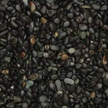 Beach Pebbles black 8-16mm 25 kg