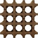 Aquadrain 30x30x8cm bruin