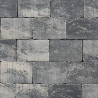 Abbeystone 20x30x6cm grijs zwart