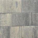 Terras-steen 20x30x3cm grijs zwart