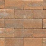 Betonklinker 21x10,5x6cm terborgbrons met deklaag