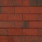 Betonklinker 21x10,5x8cm KOMO rood genuanceerd met deklaag