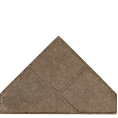 Bisschopsmuts BSS 8cm KOMO grijs met deklaag