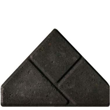 Bisschopsmuts BSS 8cm KOMO zwart met deklaag