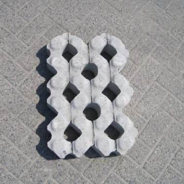 Grastegel 41x61x10cm Beton
