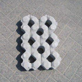 Grastegel 41x61x12cm Beton