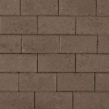 Halve betonklinker 10,5x10,5x8cm KOMO grijs met deklaag