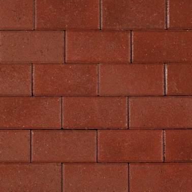 Halve betonklinker 10,5x10,5x8cm KOMO rood met deklaag
