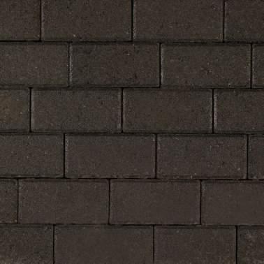 Halve betonklinker 10,5x10,5x8cm KOMO zwart met deklaag