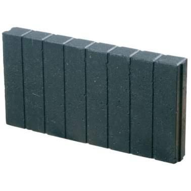 Miniquadrobandpalissade 6x25x50cm zwart