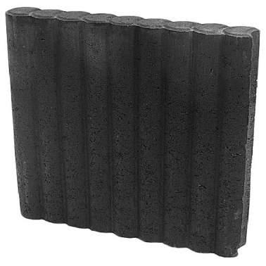 Minirondobandpalissade 6x40x50cm zwart